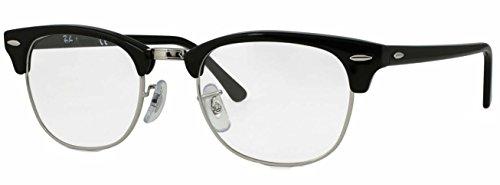 Ray Ban Black Adulto Frame Gafas Monturas Unisex Clubmaster de Shiny SSqrw