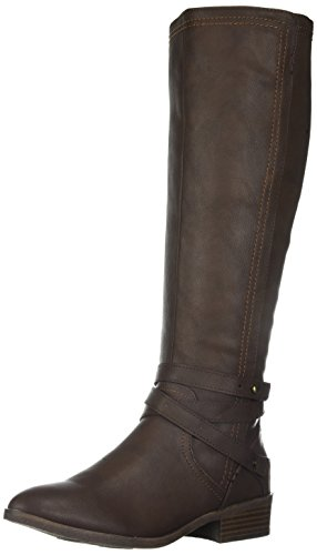 Fergalicious Women's Lennin Riding Boot, Brown, 8 M - Tall Boots Riding