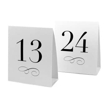 Weddingstar Table Number Tent Style Card Numbers 13 to 24  sc 1 st  Amazon.com & Amazon.com: Table Number Tent Cards 13-24: Toys u0026 Games