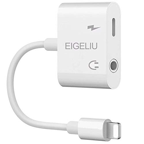 EIGELIU 3.5 mm Headphone Adapter for Adapter 3.5mm Jack Dongle Earphone Aux Audio & Music Compatible at The Same time Adaptor (Iphone 4 Headphones Work But Not Speaker)