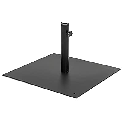Best Choice Products 38.5-Pound Steel Square Patio Umbrella Base Stand w/Tightening Knob and Anchor Holes, Black
