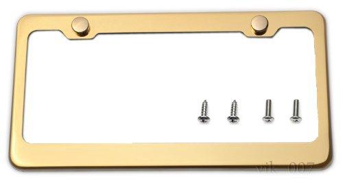 Gold Titanium License Plate Frame - Frame Titanium Car
