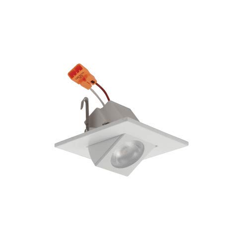 Elco E219C0630 2'' LED Adjustable Square Shower Recessed Trim - 670 Lumens, White