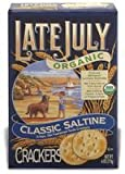 Late July Organic Round Saltine Crackers, 6-Ounce Boxes (Pack of 24)