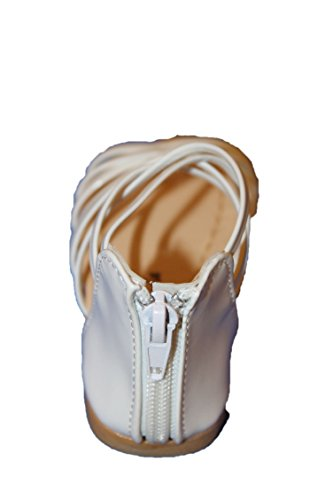 eva mode-spartiates sandales-blanche brillante-fille (30)