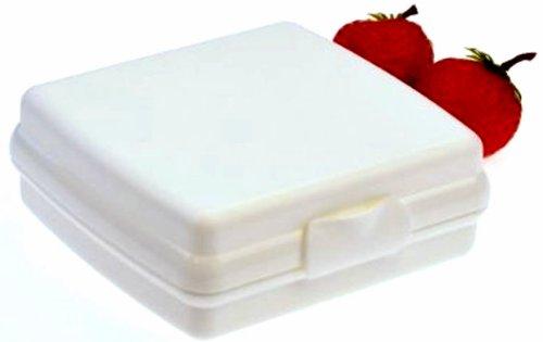 1a TUPPER A126 Brotdose Sandwich-Box Schulbrotdose --- weiß