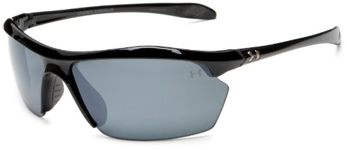 Under Armour Zone XL Polarized Sunglasses, Shiny Black Frame/Gray Polarized Multiflection Lens, One - Zone Sunglasses