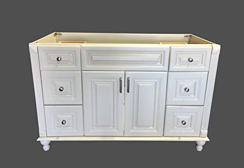 "Antique White solid wood Single Bathroom Vanity Base Cabinet 48"" W x 21""D x 32"" H"