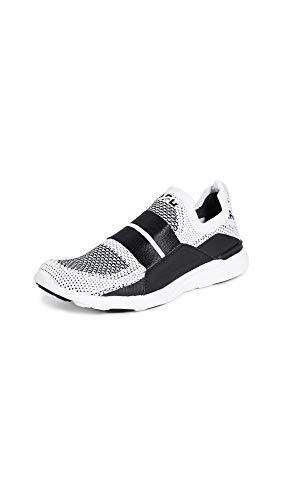 APL: Athletic Propulsion Labs Women's Techloom Bliss Sneakers, White/Black/White, 9 Medium US