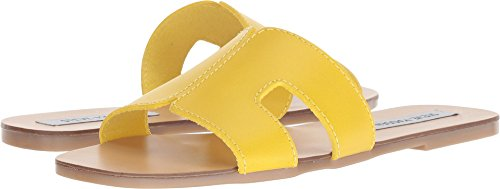 Leather Sayler Madden Yellow Steve Women's Sandal wCqY6nCTxA