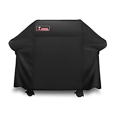 Kingkong Gas Grill Cover 7553 | 7107 Cover for Weber Genesis E and S Series Gas Grills Includes Grill Brush, Tongs and Thermometer