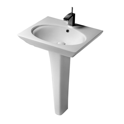 Barclay 3-378WH Opulence Pedestal Lavatory Oval Bowl In White