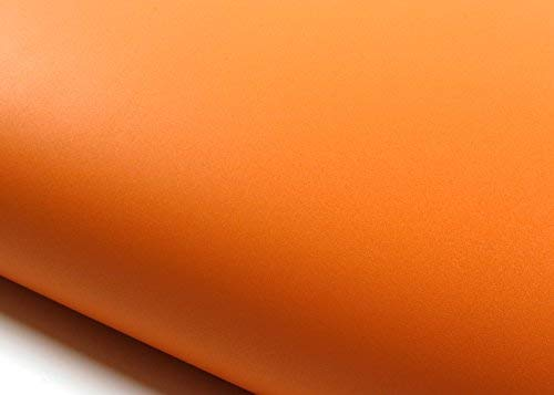 (Peel and Stick PVC Instant Phoenix Solid Decorative Self-Adhesive Film Countertop Backsplash Orange (SG38 : 2.00 feet X 6.56 feet))