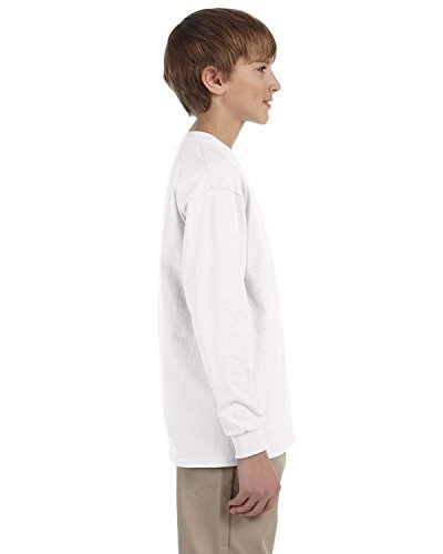 Gildan Ultra Cotton Youth Long-Sleeve T-Shirt, Wht, X-Large