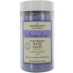 (Aromafloria Aromatherapy Collection Stress Less Ocean Mineral Salts, Lavender/Chamomile/Sage, 42.0 Ounce)