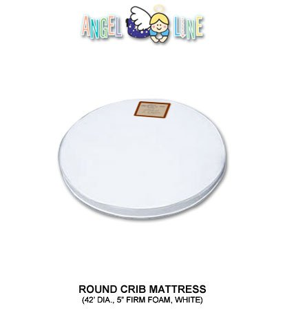 ANGEL LINE Round Crib Mattress Angel Line Nursery Crib