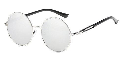 Round Lens BOZEVON femmes de Circle Argenté soleil Retro Style Lunettes pour gYwqYHP4