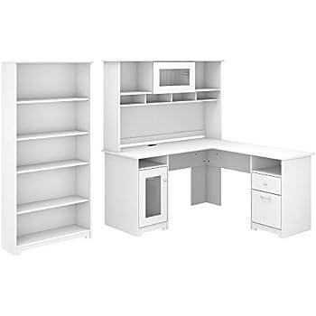 Amazon.com: Bush Furniture Cabot - Escritorio para ordenador ...