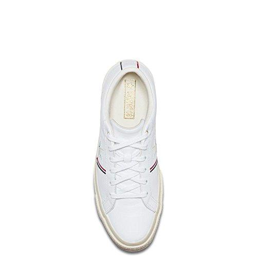 Unisex Star Ox Weiß Weiß Rot 102 für Fitnessschuhe Leder Converse Reiher Erwachsene Lifestyle One Emaille dqSaXw