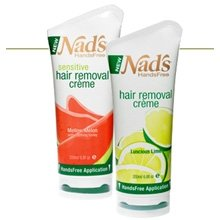 Nads Hands Free Sensitive Hair Removal Creme, Mellow Melon - 6.8 Oz