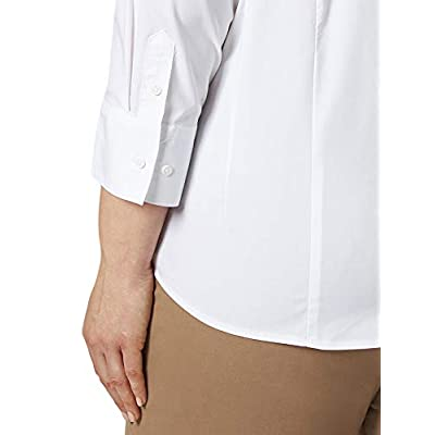 Riders by Lee Indigo Women's Plus Size Easy Care ¾ Sleeve Woven Shirt at Women's Clothing store