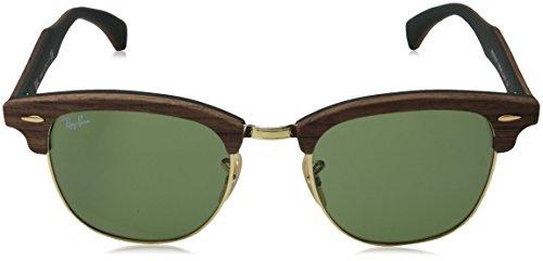 soleil Green de Mixte Walnut Ray Ban Rubber Lunettes Green Vert EwttI8