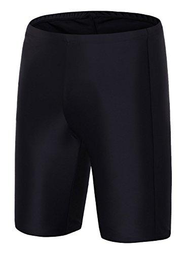 Avellara Women Solid Long Bike Shorts High Waisted Active Swim Shorts Swim Bottoms - Bike Swimwear Shorts