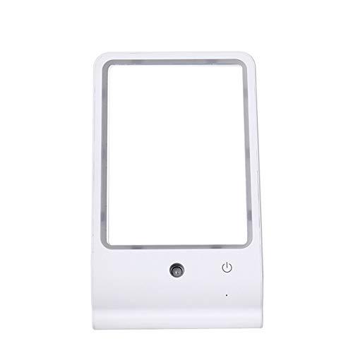 RMXMY Espejo de Maquillaje LED de Escritorio Espejo de vanidad portátil de Verano Espejo hidratante de plástico de Tres...