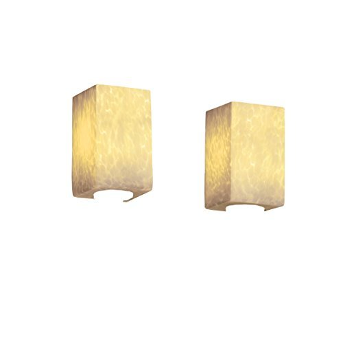 Justice Design Group Lighting FSN-8922-15-DROP-DBRZ FusionCollection Modular 2-Light Bath Bar by Justice Design Group Lighting - Light Modular Bath Bar