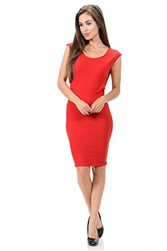 Robes De Diamante Femmes De La Mode - Style Adr042 Rouge