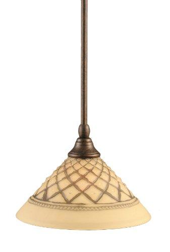 Toltec Lighting 23-BRZ-518 - Lámpara de techo (acabado en bronce, con vidrio de mármol italiano), Minipendientes, 25 cm,...