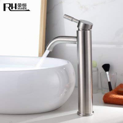 JingJingnet 304ステンレス鋼の洗面台の蛇口の洗面台の流しの蛇口のホットとコールドの単孔浴室トイレブラシをかけ (Color : 3) B07RXYR1R2 3