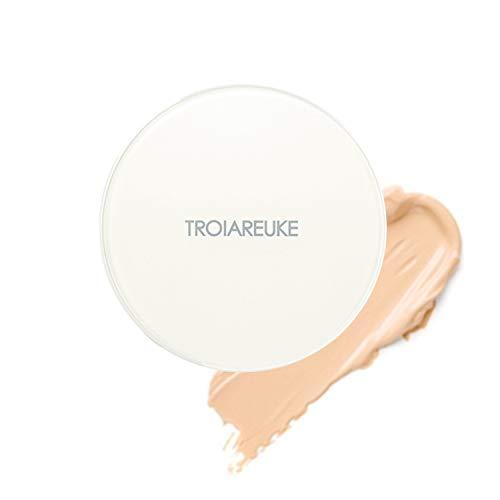 TROIAREUKE H+ Cushion Foundation, 21 Light Beige - SPF50+ PA++++ Healing Skincare Cushion for Dry Skin (Best Cushion Foundation Review)