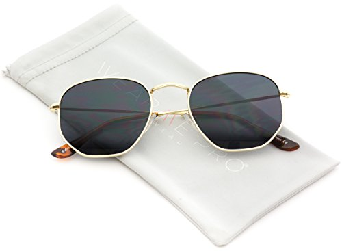 WearMe Pro - Geometric Round Gold Frame Retro Sunglasses