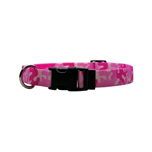 Camo Pink Dog Collar - Size Small 10