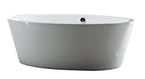 Ove Decors Marilyn Freestanding Soaking Bathtub, 67-Inch by 43-Inch