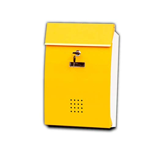 - Outdoor Wall-mounted Mailbox With Lock American Mailbox With Waterproof Cover Secure Letter Office Mailbox Garden Apartment (Color : Yellow)