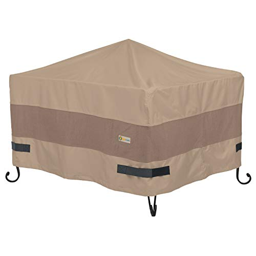 Duck Covers Elegant Square Fire Pit Cover, 40-Inch ()