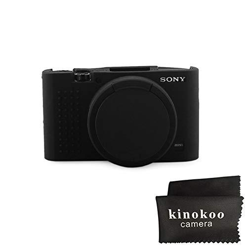 kinokoo Silicone Case for Sony DSC-RX100M2/M3/M4/M5/M6 DSC-RX100 RX100 II/RX100 III/RX100 IV/RX100 V/RX100 VI Protective Rubber Cover (Black)