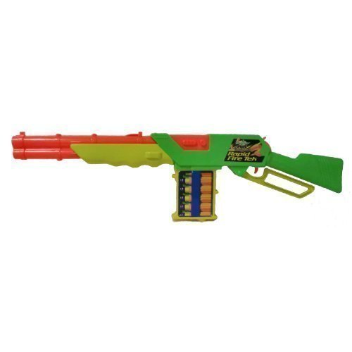 Buzz Bee Toys Air Warriors Rapid Fire Tek Clip Fed Blaster with Ejecting Shells