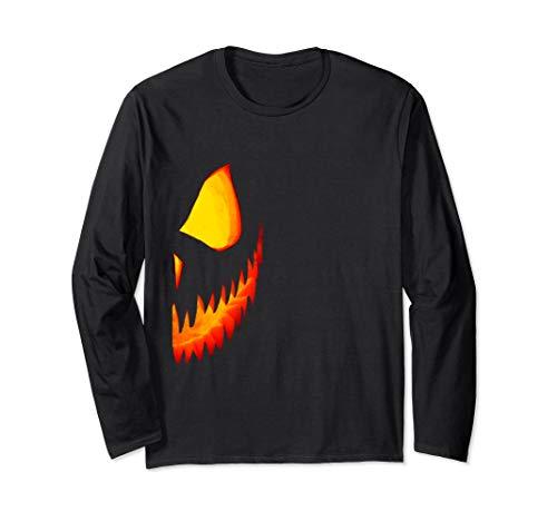 Half Pumpkin Jackolantern Couples Halloween Costume Shirt #2