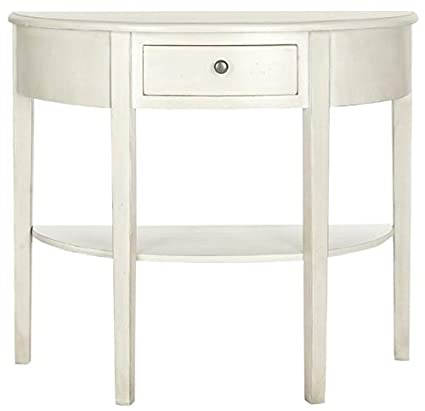 Amazoncom Wood Console Table With 1 Shelf Half Moon Console