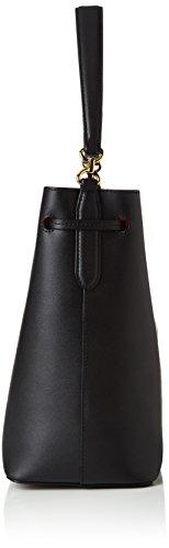 Ralph Lauren Damen Debby Drawstring Geldbörse, Schwarz (Black/Crimson), 15x30x25 cm Schwarz (Black/Crimson)