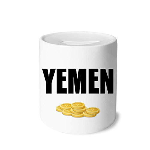 Unbranded Yemen Country Name Money Box Printed Ceramic Coin Bank