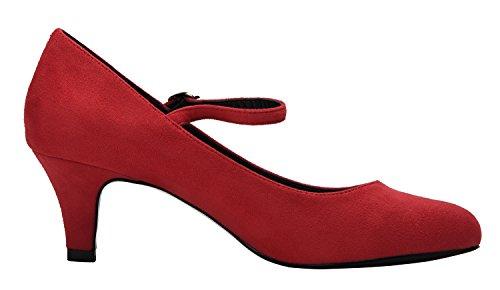Caviglia Red Alla Donna Cinturino Velveteen Camssoo OzxFPqgwnR
