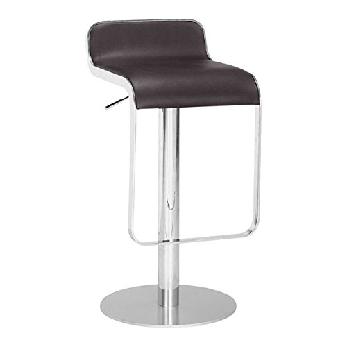 Adjustable Express Stool Height Swivel (Zuo Equino Stool, Espresso)