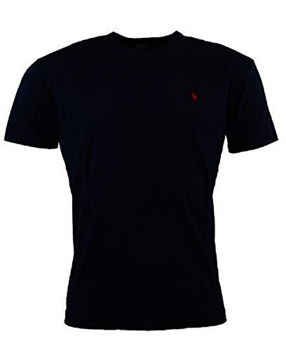 Polo Ralph Lauren Men's Classic Fit V-Neck T-Shirt (Large, Midnight ()