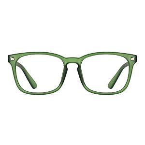 TIJN Unisex Wayfarer Non-prescription Eyeglasses Glasses Clear Lens Eyewear Grace Green Frame