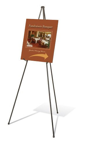 Quartet Easel, Instant Easel Stand, Heavy-Duty, 64', Supports 10 lbs., Tripod Base (27E)
