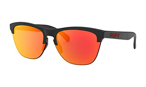 Oakley Frogskins Lite Sunglasses Matte Black with Prizm Ruby Lens + Sticker (Frogskins Matte Black)